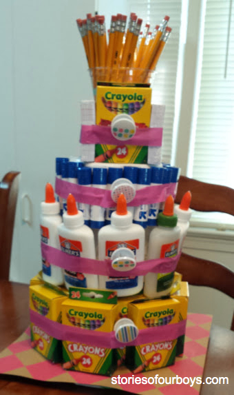 How to Build a School Supply Cake